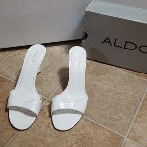 Aldo slide in sandals, wedge design .. Read 4 sz!